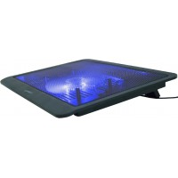 Охлаждающая подставка для ноутбука Gembird NBS-1F15-03 Black